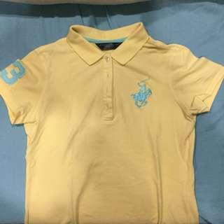 Yellow Polo Collared Shirt