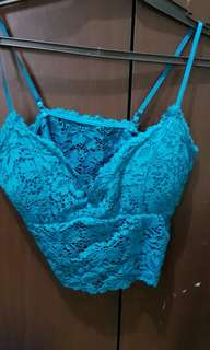 Turquoise Lace Bustier