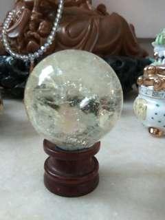 A class citrine crystal  ball 黃水晶