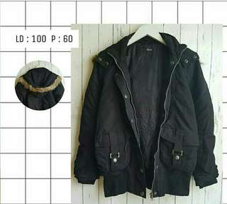 Jaket hitam - Black Jacket High Quality Material