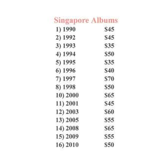 Singapore Annual Stamp Albums No. 1990