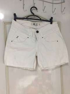 Zara Trafaluc White Maong Shorts