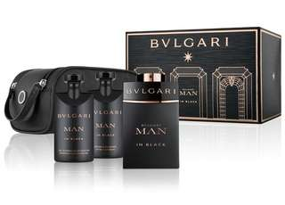 Bvlgari Men In Black Gift Set | Parfum Pria Original | Kado Lebaran