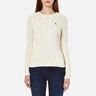 全新 Polo Ralph Lauren Sweater 白色冷衫 購自Polo 專門店 有tag 有價錢牌 原價990