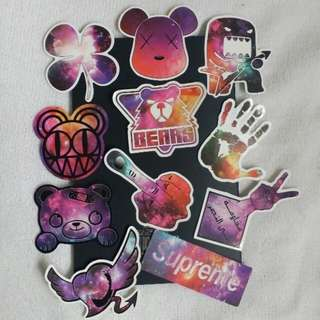 Galaxy Decals stickers supreme bear heart