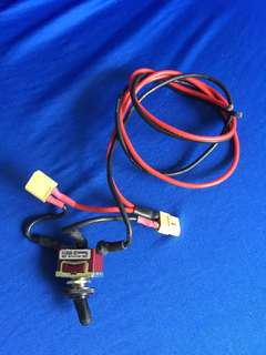 For external battery cable and switch