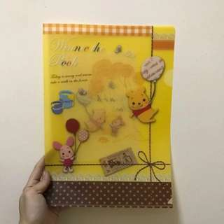 BN Winnie The Pooh Baby Pooh And Piglet Plastic A4 Size Document Holder Folder