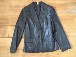 100% leather jacket Capture dark chocolate brown