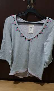 Grey Roxy knitted top