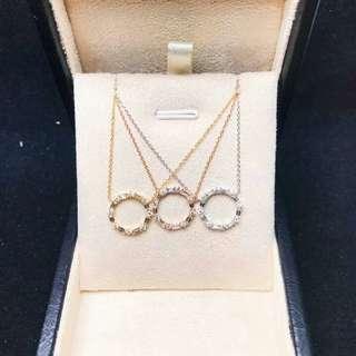 真鑽石,40份配日本製K金鏈