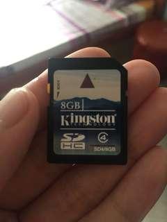 Kington SD card 8GB
