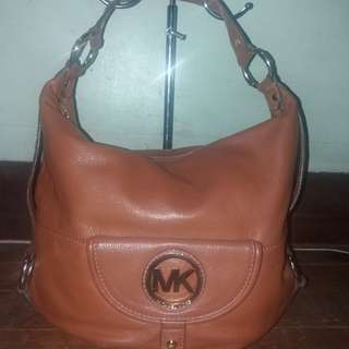 💯Original preloved michael kors mk fulton leather nag