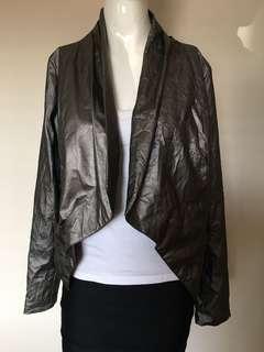 """""""staple"""" blazer size 10 silver metallic"""