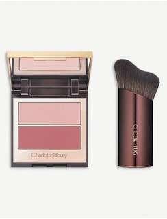 Charlotte Tilbury Pretty Youth Glow Filter & Cheek Hug Brush Set