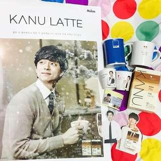 🚚 孔劉Kanu咖啡組合禮包 拿鐵 馬克杯 海報 咖啡王子 鬼怪