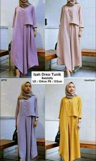 Ready Stock Kembali Izah Dress Tunik