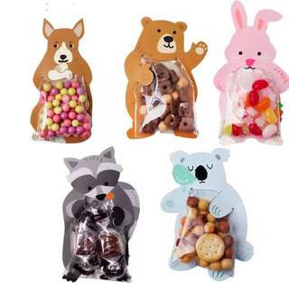Cute animal cookie bags for parties & favors
