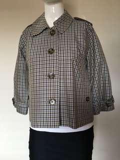 Regatta blazer coat size 10 blue green brown white