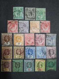 Straits Settlements 1912 1921-1933 King George V Set Up To $5 - 22v Used Malaya Stamps