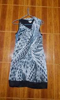 helmut lang printed viscose silk dress