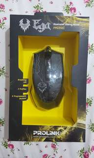 PROLiNK Ega Illuminated Gaming Mouse with Programmable Buttons Black (PMG9501)