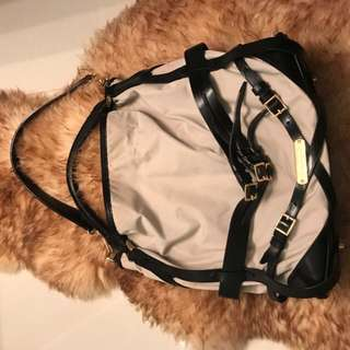 Authentic Burberry Belted Bridle Hobo Bag