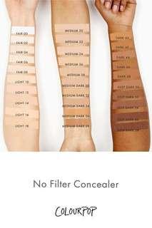 Colourpop No Filter Concealer