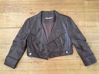 Cooper st size 10 pleather jacket rose brown