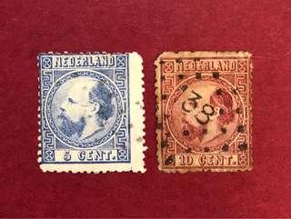 1867年 荷蘭 威廉三世,#7-8_A3_5,10c