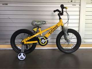 "Royal Baby 16"" Bull Dozer Children BMX"