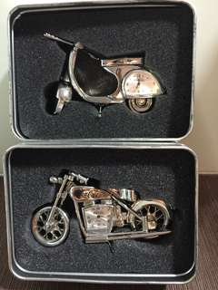 可口可樂 電單車時鐘(一套兩個)