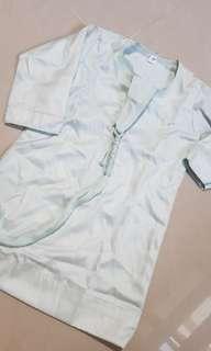 New light mint color baby boy jubah