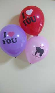 "Romantic surprise birthday /proposal idea - ""i love you"" balloons"