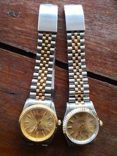 Rolex datejust 18k gold