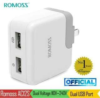 Original Romoss Dual USB Port Adapter
