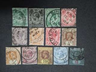 Straits Settlements 1912 1921-1933 King George V Set Up To $1 - 13v Used Malaya Stamps