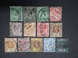 Straits Settlements 1912 1921-1933 King George V Set Up To $1 - 13v Used Malaya Stamps