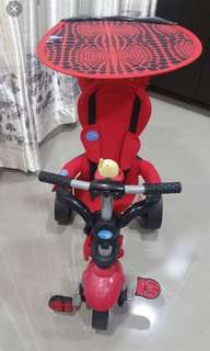 Smart trikes dream touch steering 4 in 1 trike- red