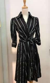 🚚 修身直條紋洋裝