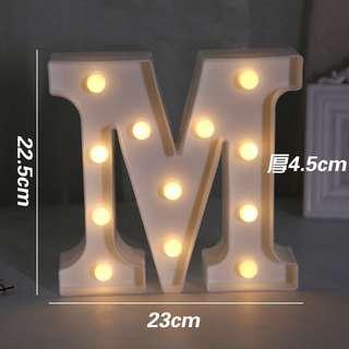 """Alphabet """"M"""" Lamp"""
