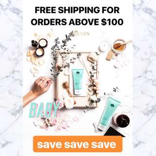 Yes it's FREE shipping for orders above $100