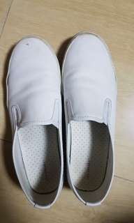priced to sell pre loved white leatherette sneakers