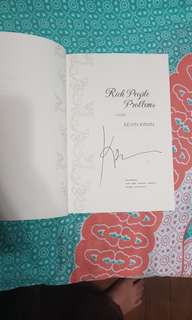 Signed Copy of Rich People Problems by Crazy Rich Asians Author Kevin Kwan