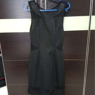 LOVE BONITO BLACK MESH DRESS