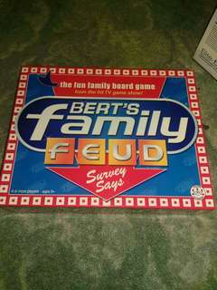 Bert's Family Fued board game