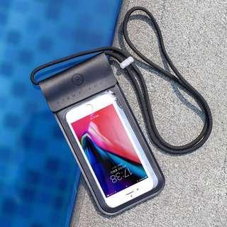 手機防水袋潜水套温泉游泳通用 黑色小號