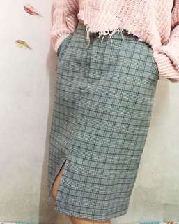 Vintage Korean Midi Skirt