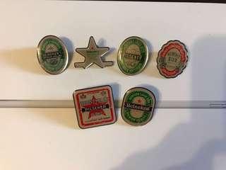 Heineken 襟章購自荷蘭