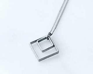 Trendy sliver necklace
