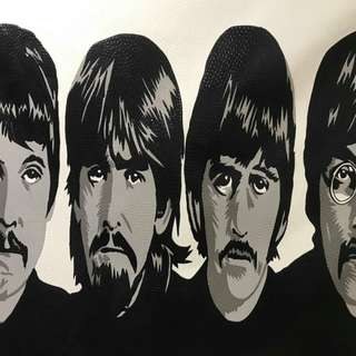 Beatles Painting on Canvass from Indonesia
